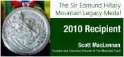 Exec. Director to receive Sir Edmund Hillary Mountain Legacy Medal